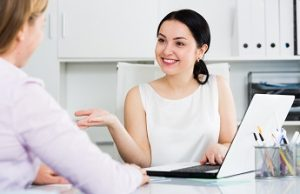 Female Manager With Client